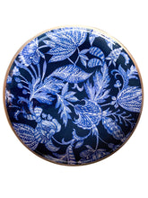 Load image into Gallery viewer, BATIK BLUE ROUND TRAY