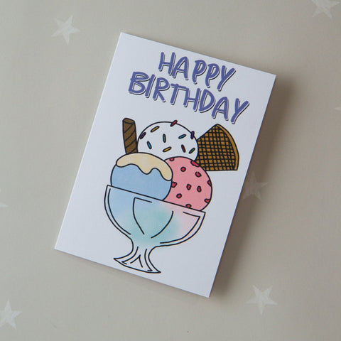 KIDS CARD - ice cream