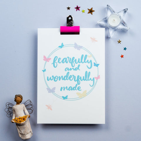 Fearfully and wonderful made - WALL PRINT
