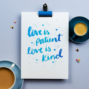 Love is patient - wall print