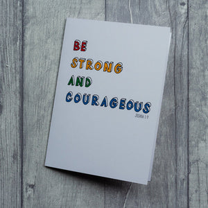 Be strong - card