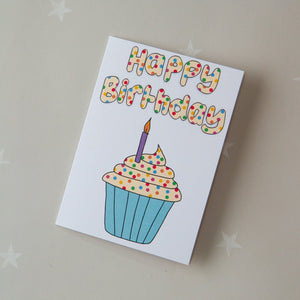 KIDS CARD - spotty cupcake