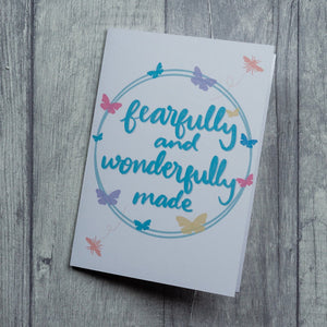 Fearfully and wonderfully made - card