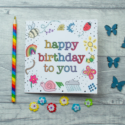 Bugs Birthday card - 3 options
