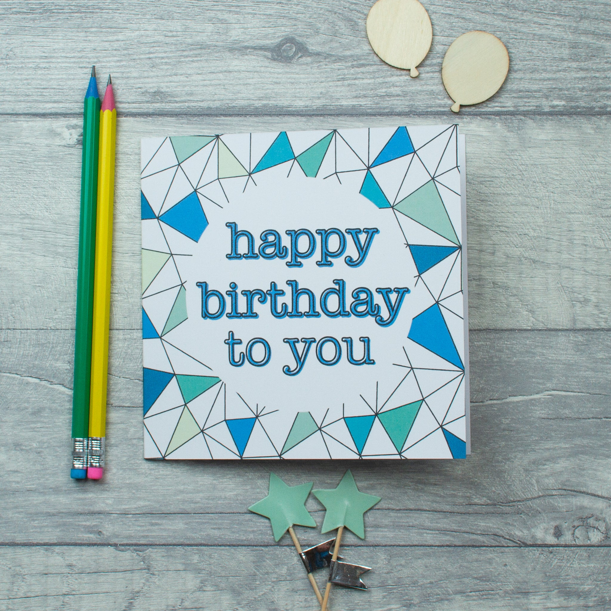 Triangles Birthday card - 3 options