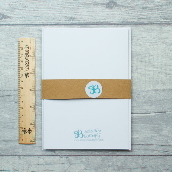 Teal Leaves Birthday card - 3 options