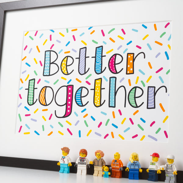 better together wall print
