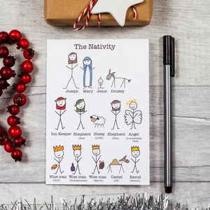 The stick people nativity card - 8, 12 or 16