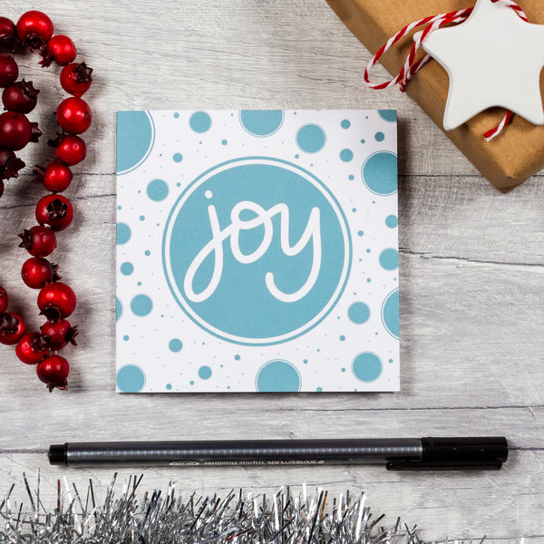 Joy dots Christmas cards - 10, 20 or 30