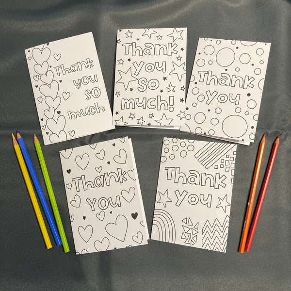Colour your own Thank you cards