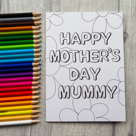 Colour your own Mother's Day