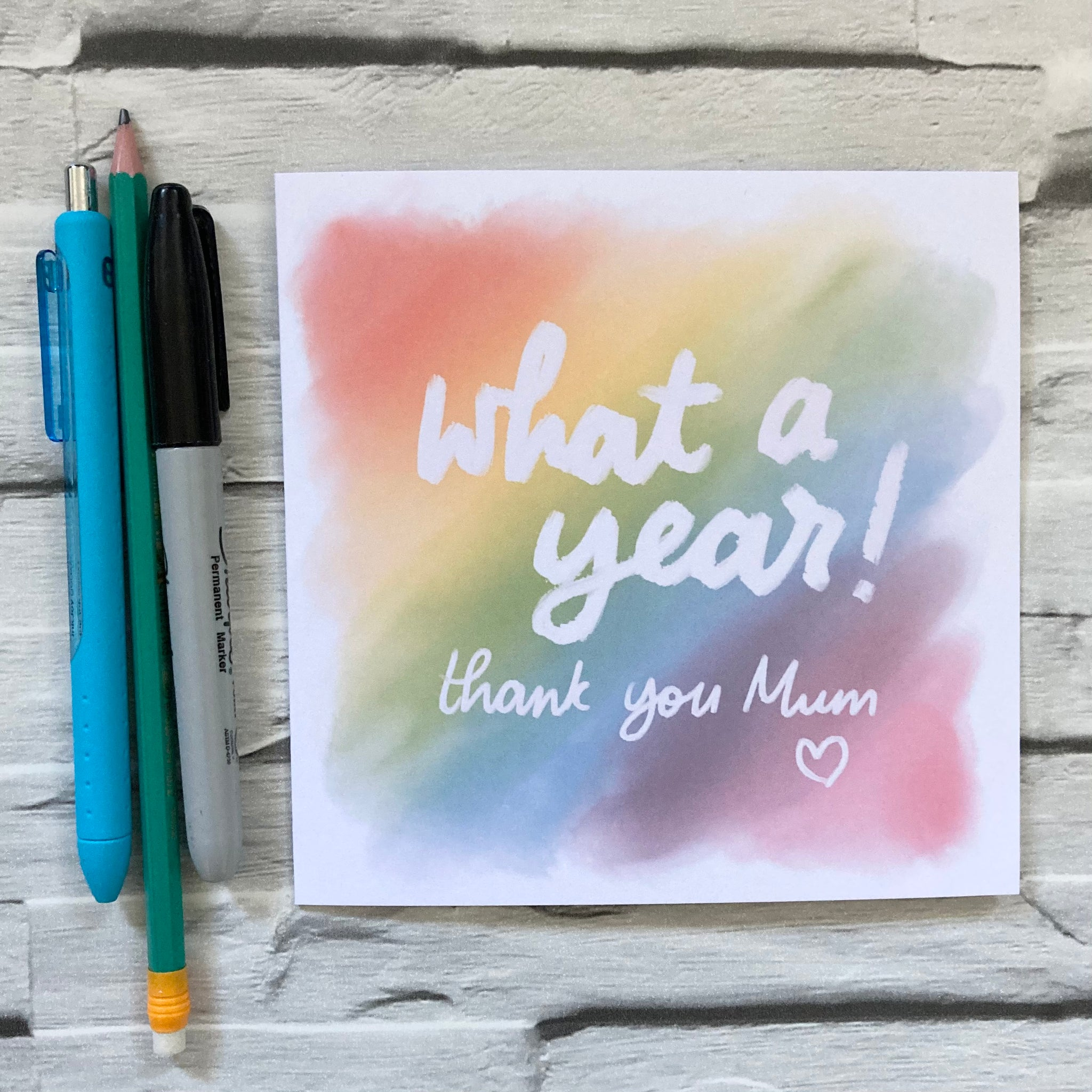 What a year! Mother's Day card