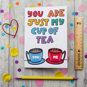 My cup of tea Valentine's Day card