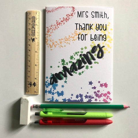 **Personalised** Amazing teacher thank you card