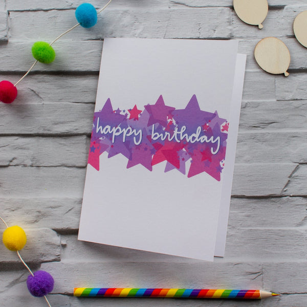 Birthday stars - CHOICE OF 2 COLOURS