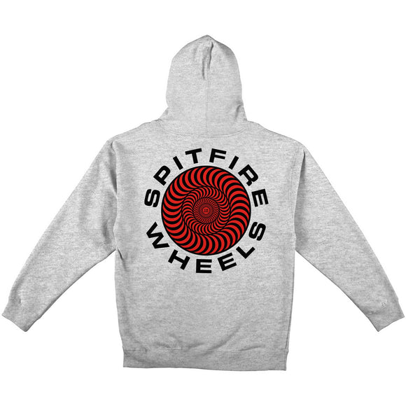 Spitfire Classic 87' Swirl Pullover hoodie Grey Heather/Red Black Prints Canada