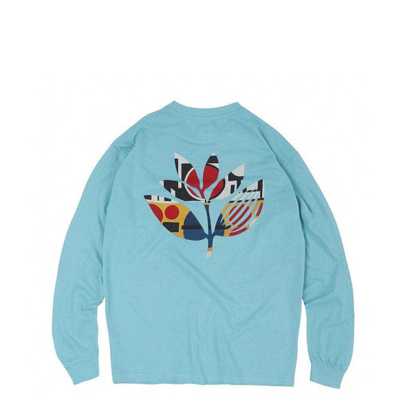 Magenta Shapes Plant long sleeved tee light blue Canada