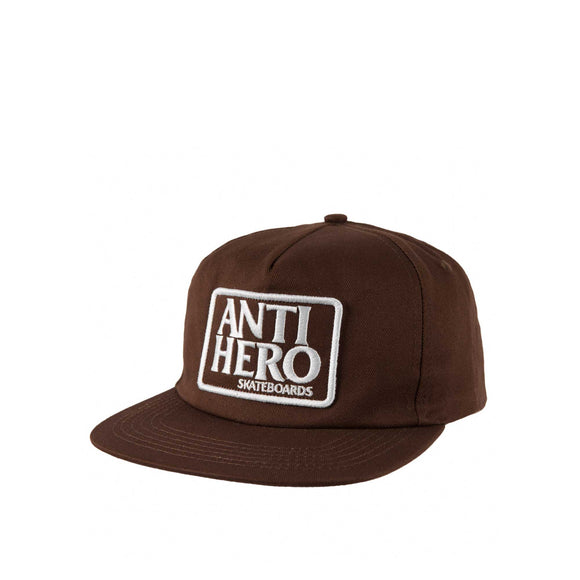 Anti Hero Reverse Patch Snapback, brown/white