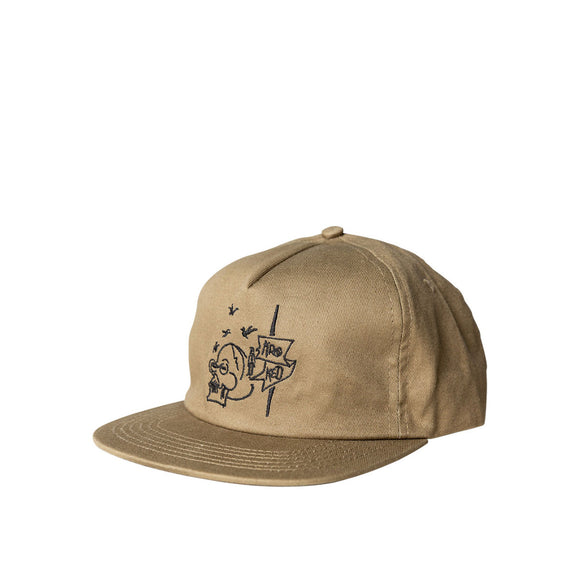 Krooked Death snapback hat, khaki/black