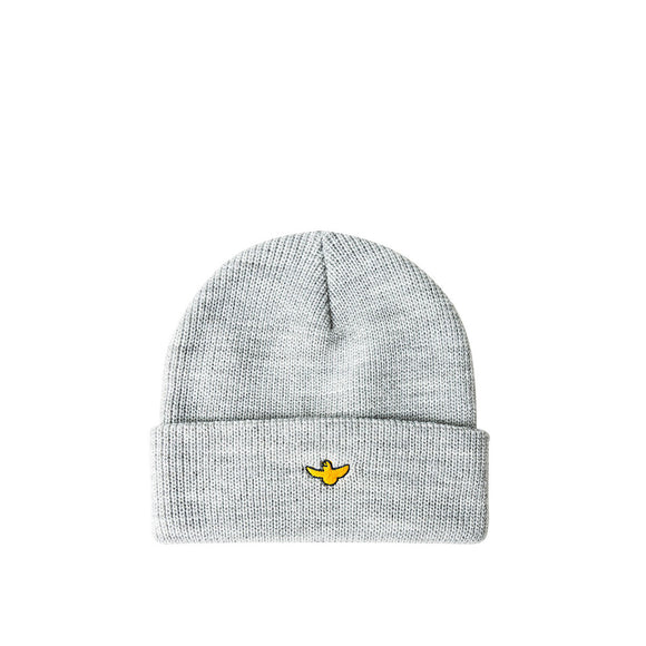 Krooked Bird cuff beanie, heather grey