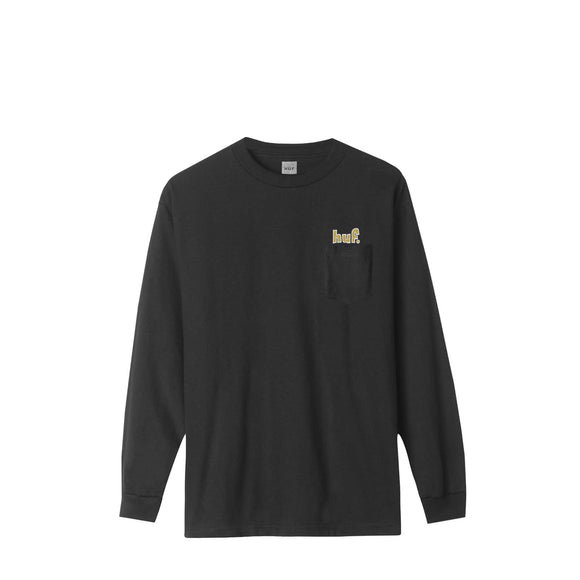 Huf 1993 L/S pocket tee black