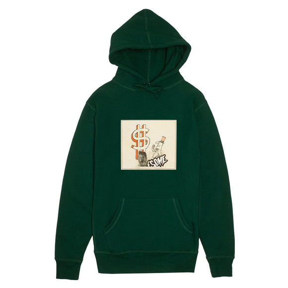 Fucking Awesome Hush Money hoodie FA-HO18HD007  hunter green Canada