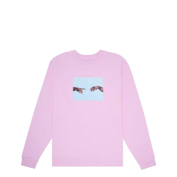 Fucking Awesome Nak Hands Crewneck, light pink