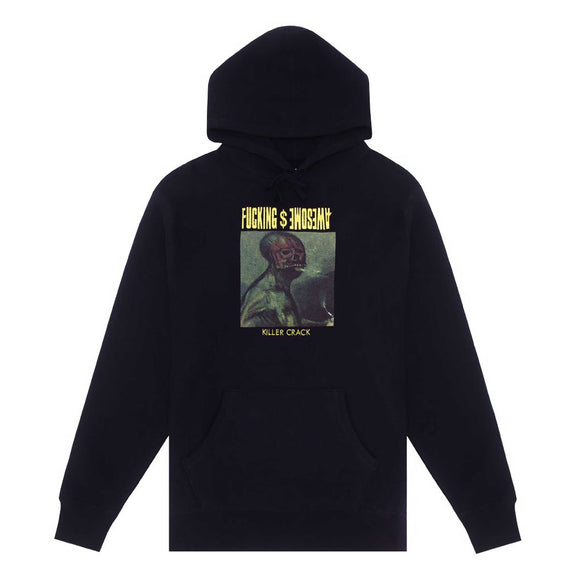 Fucking Awesome Killer Crack Hoodie, black