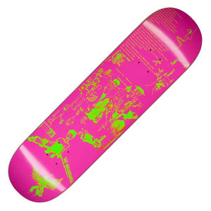 "Fucking Awesome Drawings 2 Pink Neon Green Deck (8.5"")"