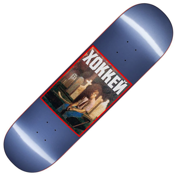 Hockey Nik Stain Deck, metallic blue (8.5