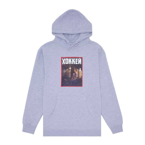 Hockey Nik Stain Hoodie, grey heather