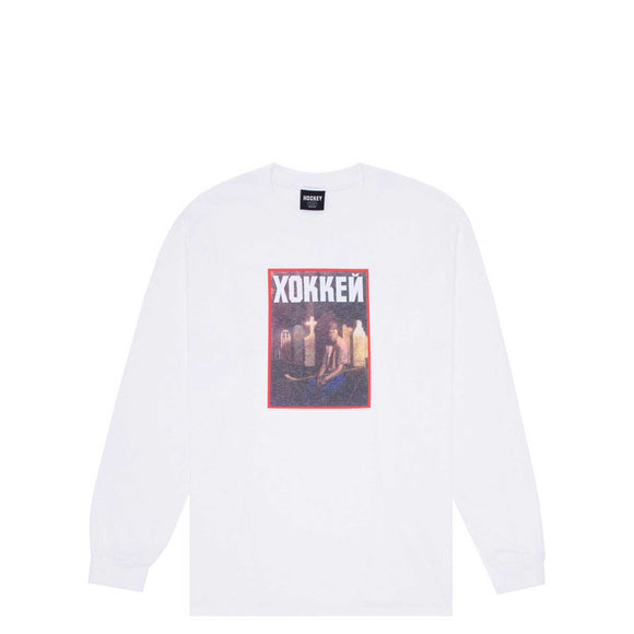 Hockey Nik Stain LS Tee, white