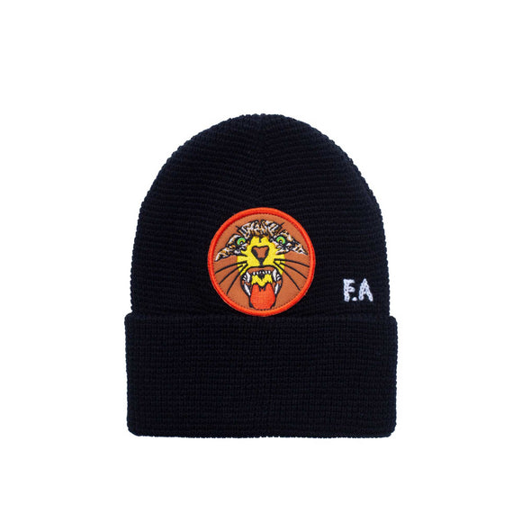 Fucking Awesome Tiger Cuff Beanie, black