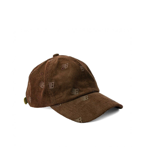 Bronze Allover Embroidered cap, brown