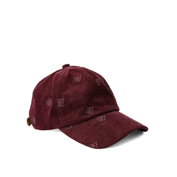 Bronze Allover Embroidered cap, maroon