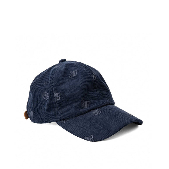 Bronze Allover Embroidered cap, navy