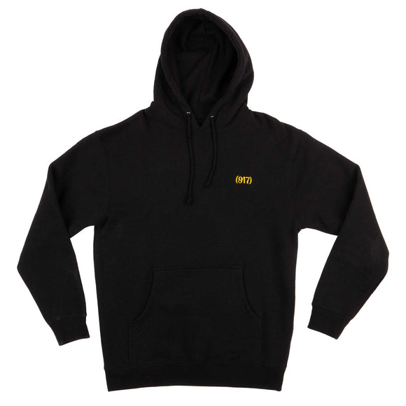 Nineoneseven Area Code Embroidered hood black