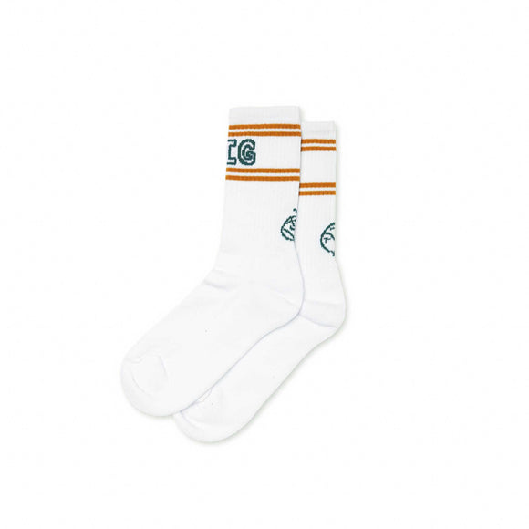 Polar Big Boy socks, white/teal/orange