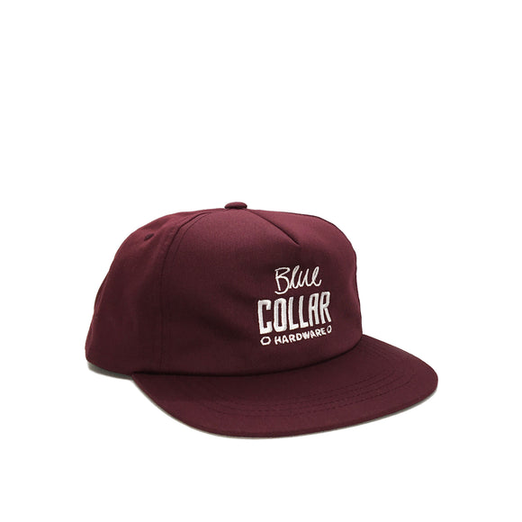 Blue Collar OG Block SnapBack, Burgundy