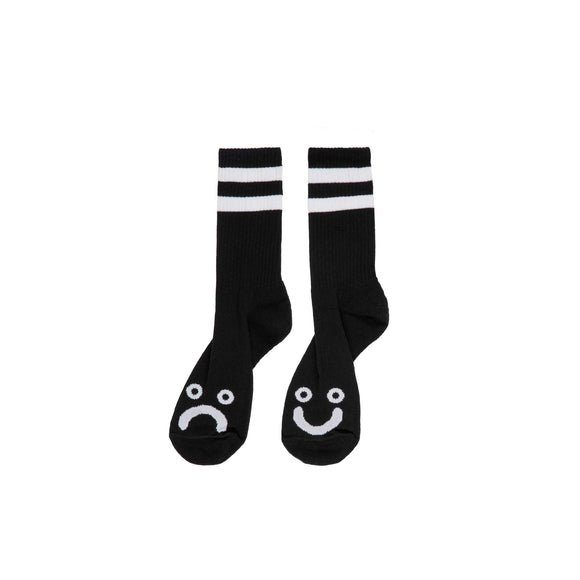 Polar Happy Sad socks, black
