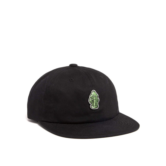 HUF Hydrant Unstructured 6 panel hat, black