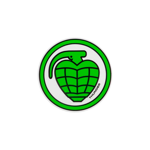 Thunder Grenade sticker (medium, green/black)