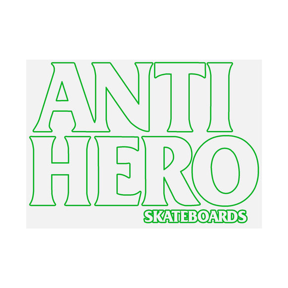 Antihero Blackhero sticker (Medium), Green Outline Canada
