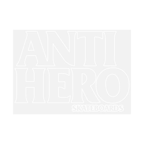 Antihero Blackhero sticker (Medium), White Outline