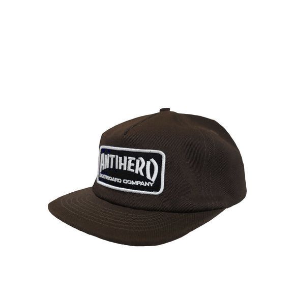 Anti Hero Skate Co. Unstructured Snapback Hat - Brown