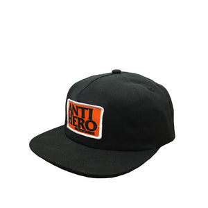 Anti Hero Reserve Patch Unstructured Snapback Hat - Black