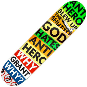 "Anti Hero Taylor God Hates AH Deck (8.25"")"