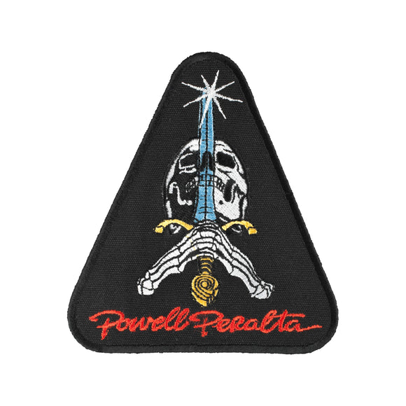 Powell Peralta Skull & Sword patch, black triangle Canada