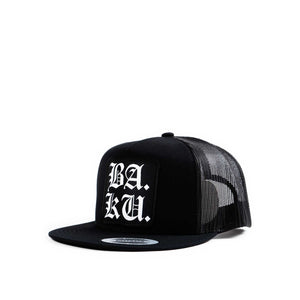 Skull Skates BA. KU. Stacked English snapback, black