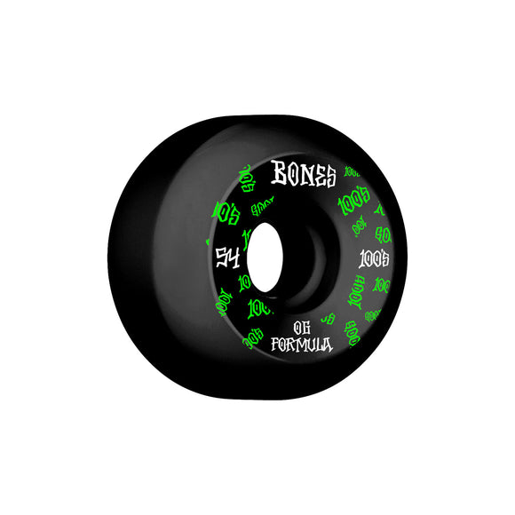 Bones 100's Logo V5 Sidecuts (54mm, black) Canada